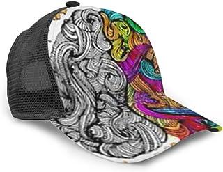 Gorra de béisbol Izquierda Derecha Concepto del Cerebro Humano Malla Ajustable Creativa Gorra de béisbol Unisex Sombrero de Camionero Se Adapta a Hombres Mujeres Sombrero