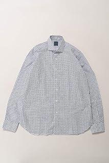 (バルバ) BARBA シャツ カッターシャツ ワイシャツ 長袖 ホワイト×ブルー メンズ (LIU1365821) 【並行輸入品】