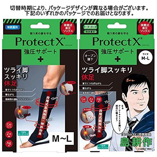 ProtectX着圧ソックスメンズオープントゥ強圧サポート(膝下M~L)