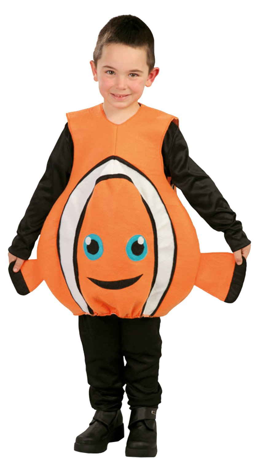 Guirca - Disfraz de pez, para niños de 5-6 años, color naranja ...