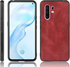For Vivo X30 Pro Shockproof Sewing Cow Pattern Skin PC + PU + TPU Case New(Black) LKay (Color : Red)