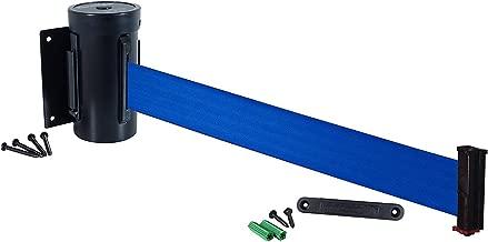 Visiontron 301D-BA-BK Dual Line Post w// 10 Retracta-Belt Black with Black Belt