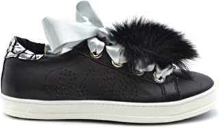 Luxury Fashion | P448 Women MCBI37945 Black Leather Sneakers | Season Outlet