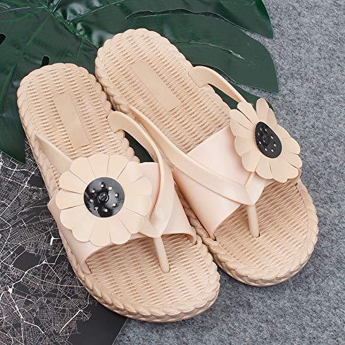 GYZBY Chanclas Mujer Verano Sol Flor Sandalias Y Zapatillas Moda Girasol Wear Playa Chanclas