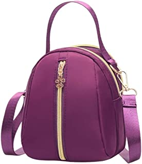 Travel Essential, Stylish and Durable Multi-Layer Fashion Handbag (Color : Purple)