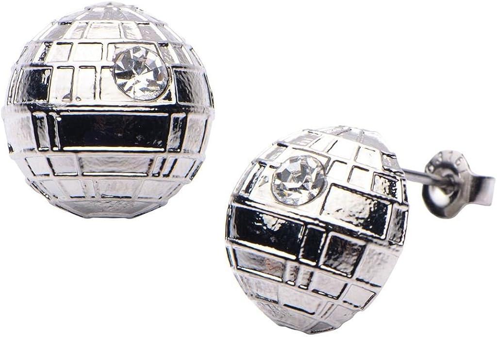 Star Wars VII: The Force Awakens Death Star Stainless Steel Stud Earrings
