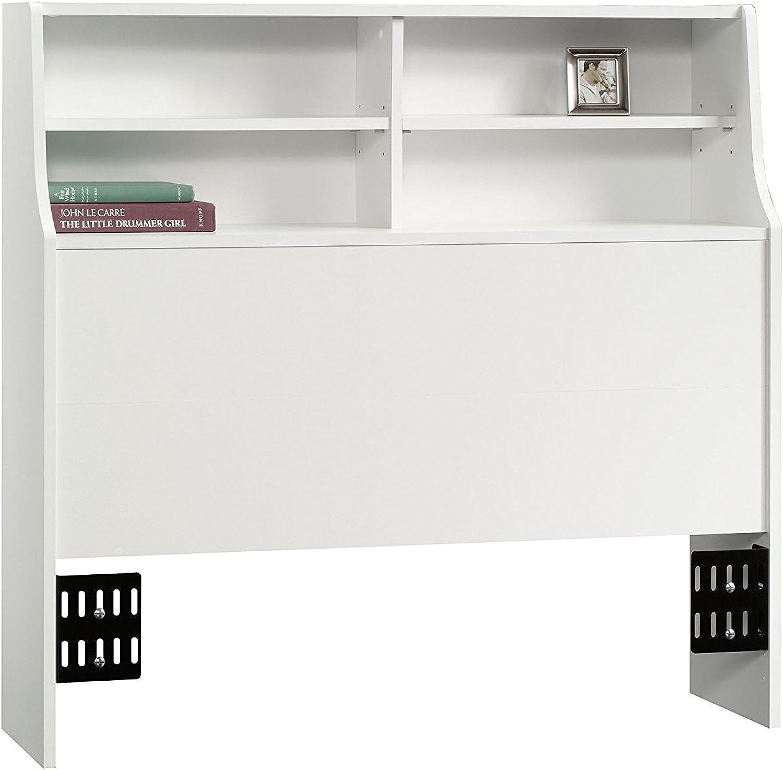 Sauder Beginnings Bookcase Headboard SW, Twin, White
