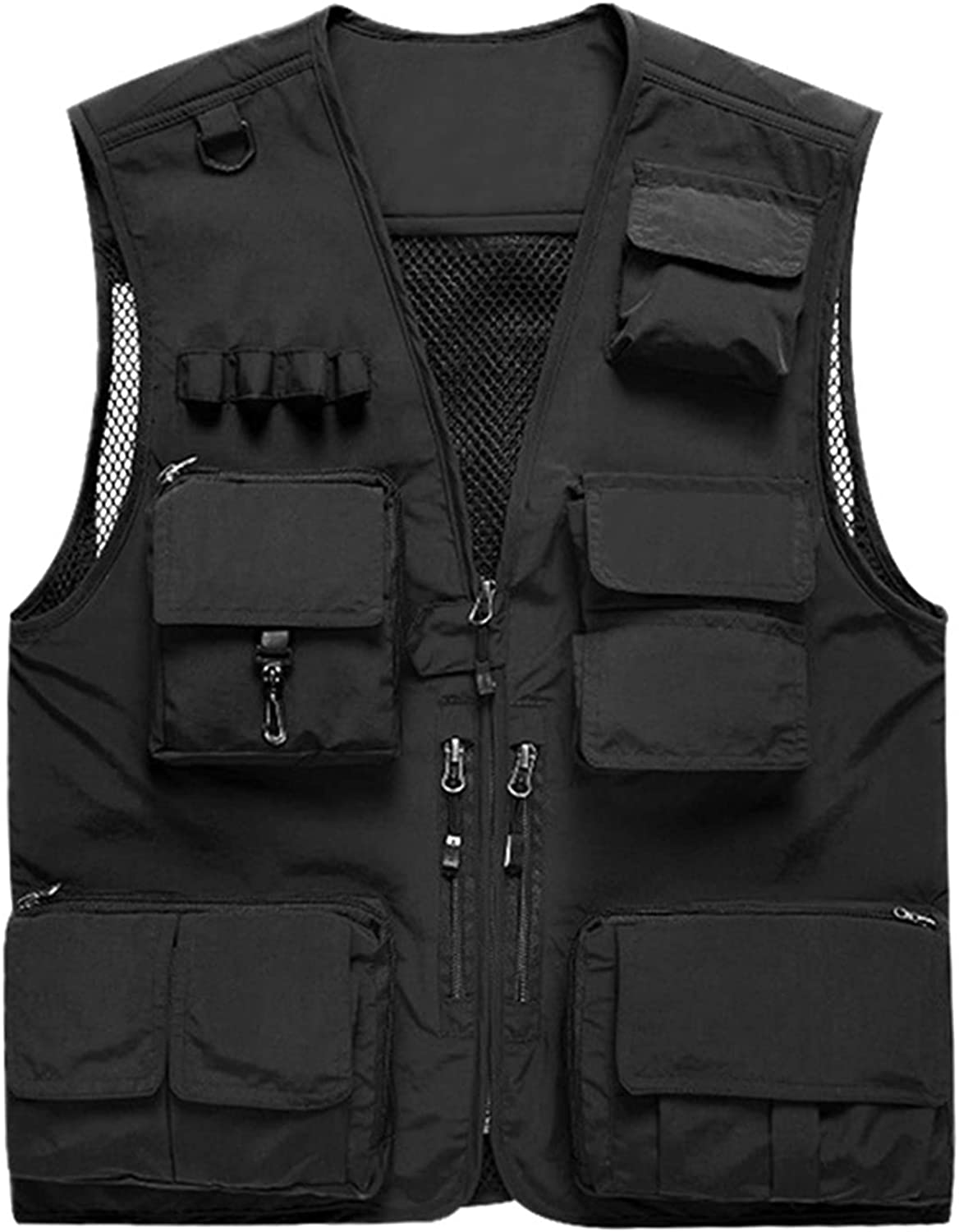 Super-cheap Prettychic Men's Outdoor Fishing Vest Mesh Vests Raleigh Mall Bre Work Casual