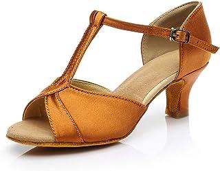 e57d2154467b71 Souliers de Danse de Salle de Bal à Talon Moyen pour Femmes, Chaussures de  Danse
