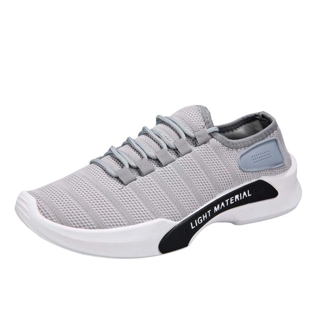 Zapatos de gimnasia para hombre transpirable de Mesh transpirable con punta redondeada, yanhoo Botas Invierno Zapatillas de gimnasia Mujer Sneaker Botas Wellington Zapatillas Running Zapatillas Hombre Zapatos gris gris 38=Asia 39: Amazon.es: