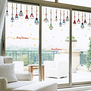 Pumsun Christmas Restaurant Mall Decoration Snow Glass Window Removable Stickers (Multicolor)