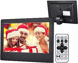 Digital Picture Frame, 7 Inch Digital Photo Frame 1024x600(16:9) High Resolution Display MP3 Video Player Calendar Alarm C...