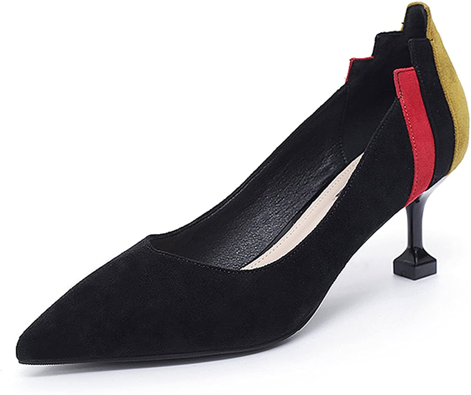 Women's high heels spring and autumn black thin shoes