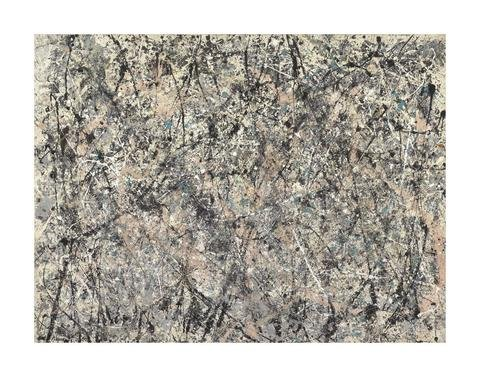 Number 1, 1950 (Lavender Mist), 1950 by Jackson Pollock, Art Print Poster, Paper Size 11' x 14' Image Size 9' x 12' (4376)