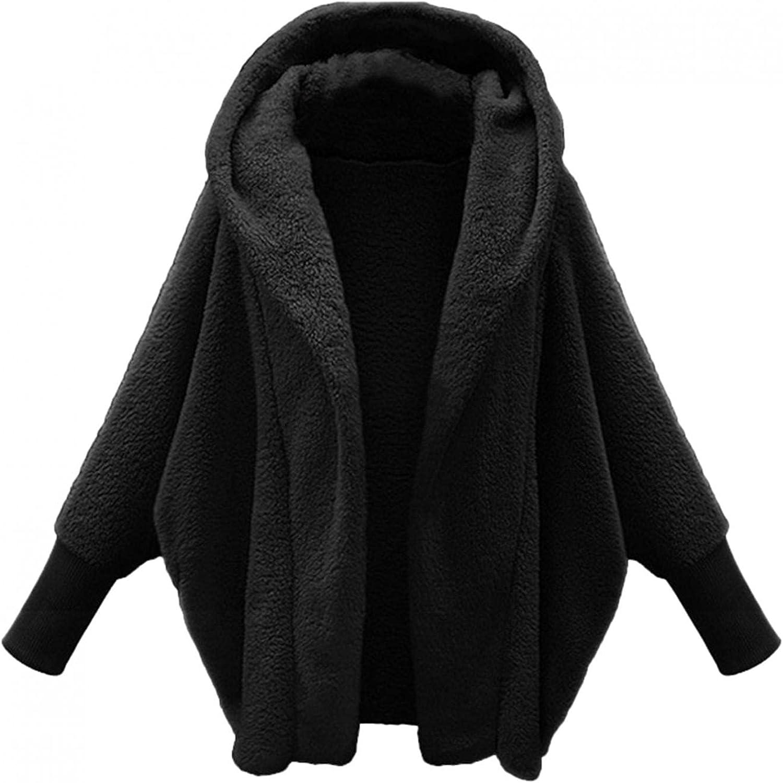 Women Fuzzy Fleece Coat, Women's Plaid Long Sleeve Zipper Sherpa Fleece Sweatshirt Pullover Jacket Coat with Pockets