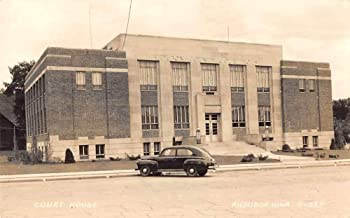 Audubon Iowa Court House Real Photo Vintage Postcard JE228449