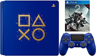 PlayStation 4 Days of Play Destiny 2 Bundle: PlayStation 4 Slim 1TB Days of Play Limited Edition Console, DualShock 4 Wireless Controller and Destiny 2