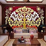 Poowef 3D Wallpaper In Südostasien Thai Fortune Baum Wohnzimmer Aus Dem Flur Wände, Hyun Bodhi Baum Yoga Wand Auspicious Baum Hintergrundbild