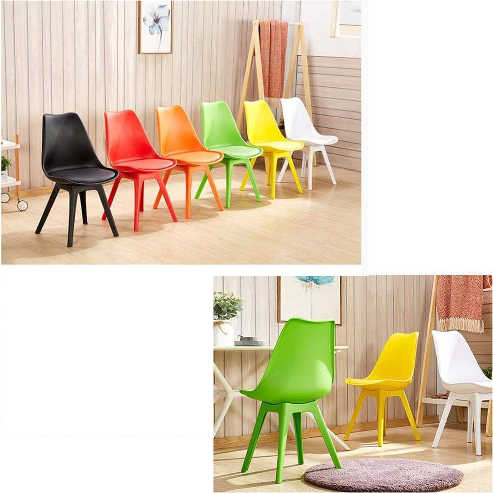 Chaise Chaise Moderne Simplicité Facile à Assembler Design monobloc Restaurant Salle d'étude (Couleur : Orange) Blanc