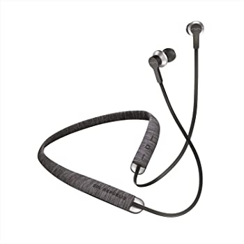 SOL REPUBLIC Shadow Fusion Bluetooth Earbuds, Black 10-Hour Playtime Comfortable Knit Tech Fiber Collar Magnetic Connection Earbuds Flexible Compact Storage Convenient Carrying Case