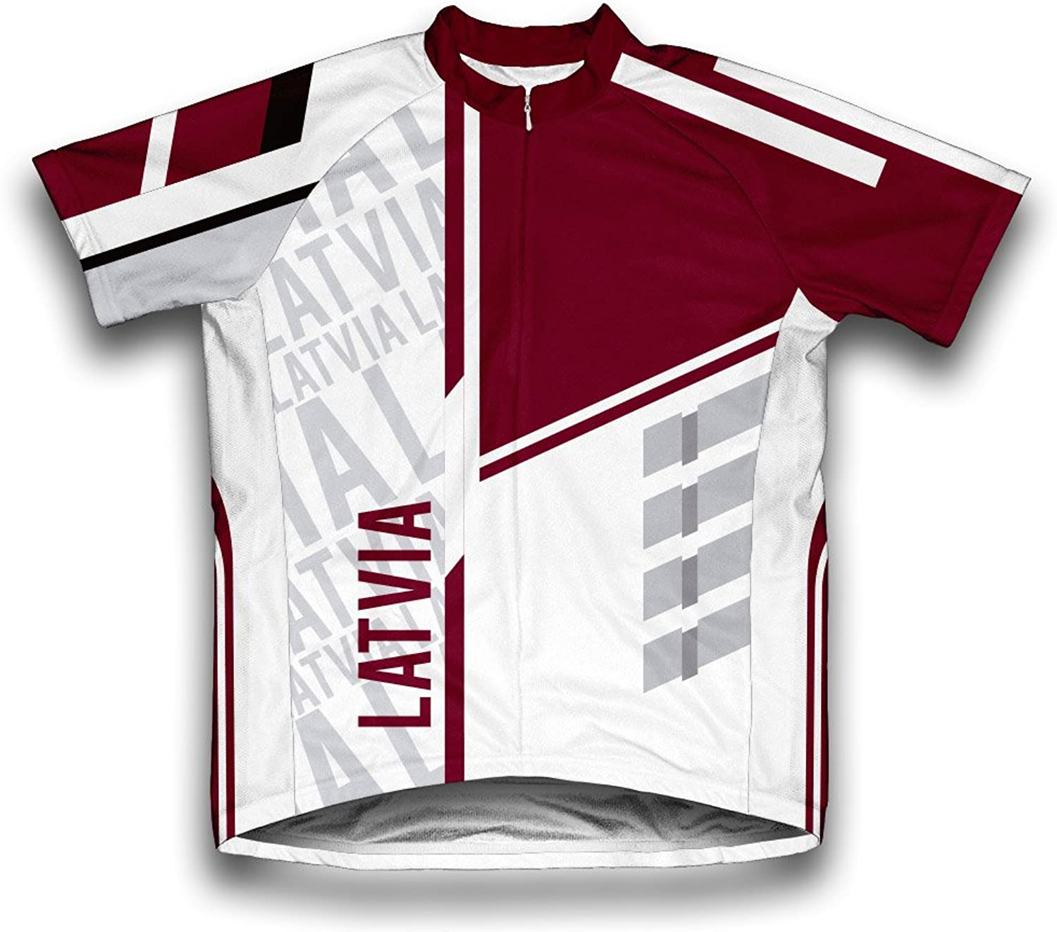 Latvia ScudoPro Short Sleeve Cycling Jersey for Men