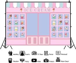 Yeele Cartoon ICE Cream Shop Backdrop Birthday 5x3ft Girls Party Photography Background Newborn Baby Kids Portraits Room Decoration Preschool Event Photoshoot Banner