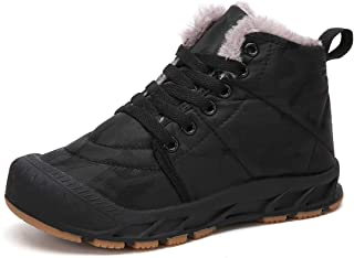 Boys Girls Snow Boots Waterproof Slip On Fur Lined...
