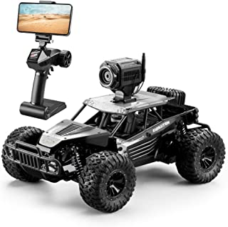 DeXop RC Car, 2.4Ghz 1: 16 4WD Remote Contorl Car with FPV HD Camera & Dual Control Mode, 20km/H High Speed Remote Control Vehicle for Gifts for Children, Adult-Black