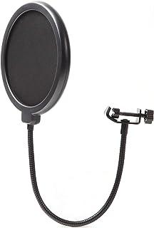 [PERDIN] ポップガード ポップブロッカー マイク 二枚フィルター ノイズ防止 グラつき防止 録音 配信専用