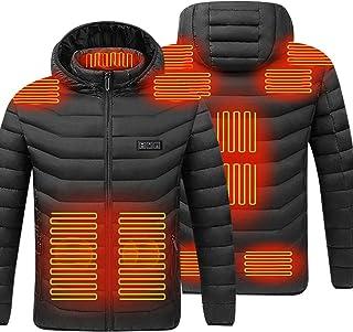 Elektrisch verwarmd jasje, USB-oplaadjack met 3 temperatuurinstellingen, winddicht, waterdicht, winterverwarmingslaag voor...