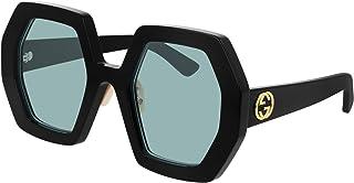 Gucci Lunettes de Soleil GG0772S Black/Blue 55/26/145 femme
