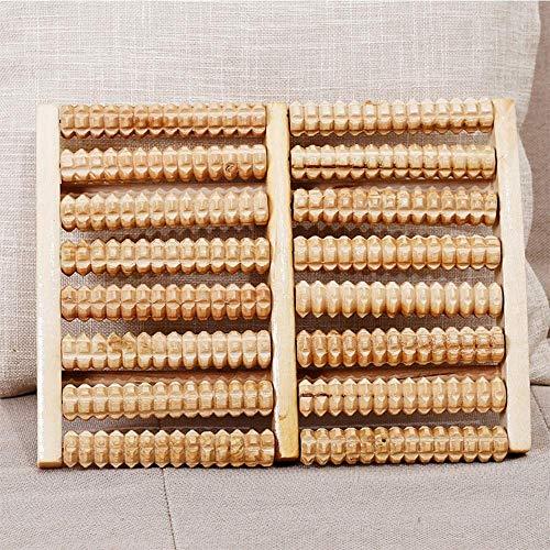 MU Tragbares Holz-Fußmassagegerät, 8 Reihen Massivholz-Rollenmassagegerät - fördern den Stoffwechsel, die Durchblutung und verbessern die Immunität des Menschen. Geeignet für Familien, Büros usw.