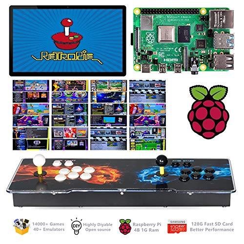 TAPDRA 14000+ Retro Games Arcade Console 2 Players for Raspberry Pi 4 Model B (1G RAM Edition) ES Retropie with 40+ Emulators