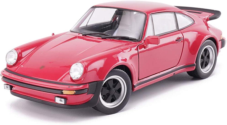 HEAGREN classeic Sports auto modello 1 24 Simulazione modellolo di Auto in Lega giocattolo modello auto Decoration 18x7x5CM ( Coloree   rosso )