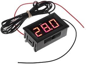 Digital LCD Frigorífico Acuario Termómetro Medidor De Temperatura Medidor Probador Monitor - Roja
