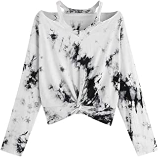 WILLBE Long Sleeve Tops Gradient Color Printed Top Hollow Blouse Shirt Round Neck Party Tops Mesh Hemd Printed T-Shirt