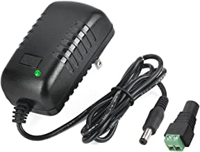 AC Adapter, YIFENG 12V/2A AC DC Switching Power Supply Adapter(Input 100-240V, Output 12V 2A) with DC Connector Gift