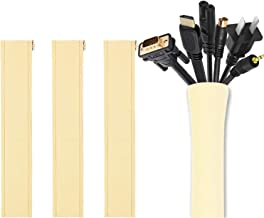 [4 Pack] JOTO Cable Management Sleeve, 19-20 Inch Cord Organizer System with Zipper for TV Computer Office Home Entertainm...