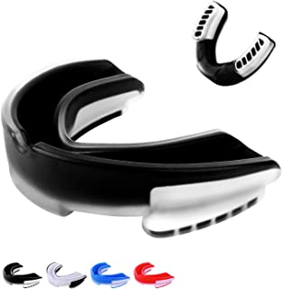 Liberlupus Mouth Guard, Odorless Football Mouth Guard, Comfortable Mouth Guard Sports, Protective Mouth Guard Case for Boxing, MMA, Basketball, Youth & Adult Sizes