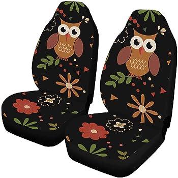 Amazon Com Interestprint Cute Owls Car Seat Cover Front Seats