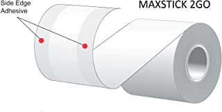 MAXSTICK 2GO REPOSITIONABLE ADHESIVE LINER FREE LABEL PAPER WHITE DUAL EDGE ADHESIVE-CASE OF 24 ROLLS