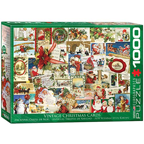 EuroGraphics Vintage Christmas Cards Puzzle (1000 Piece), 6000-0784