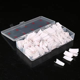 TAKIYA 500pcs Lady White French Acrylic Style Artificial False Nails Half Tips & Box (White)