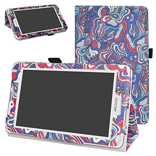 MAMA MOUTH Archos 70 Xenon Color / 70 Platinum 3G hülle, Folding Ständer Hülle Case mit Standfunktion für 7