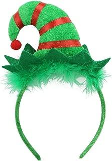 Christmas Headband Headpiece Xmas Booth Props Christmas Elf Hair Hoop for Christmas Costume Party Supplies