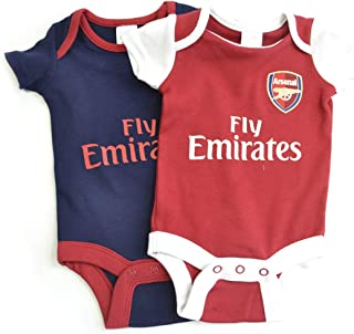 Arsenal FC - Authentic Cute Baby Body Suits 2 Pack (0-3 Months)