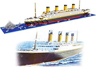 dOvOb Nano Blocks Titanic Model Building Set, 1872 Piece Mini Bricks Toy, Gift for Adults and Kids