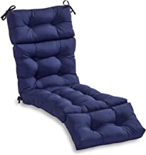 South Pine Porch AM4804-NAVY Solid Navy 72-inch Outdoor Chaise Lounge Cushion