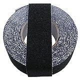 滑り止めテープ 階段 屋外 50mm*15m 脚立 耐水性 鉱物粒子タイプ (50mm*15m 黒)