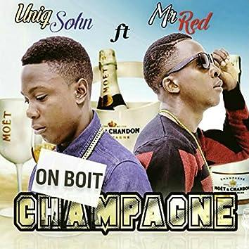 On boit champagne